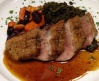 Roasted Duck Breast, Roasted Root Vegetables and Greens