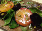 Roasted Beet Salad with Oranges and Cottingham Greens